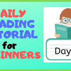 DAY 12: TEACHING READING is EASY for BEGINNERS!
