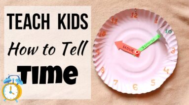 Clock DIY  | Teach Kids how to read Clock and tell Time | YouTube #Shorts | Paperplate Clock