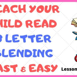 HOW EASY to READ 3 LETTER BLENDING - Short /i/  Mastery