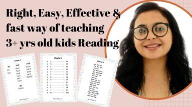 HOW TO TEACH 3+ YEARS OLD KIDS READING (Step by Step Guide) | Gautam Pragya