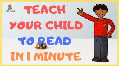 HOW to TEACH Your CHILD to READ in 1 minute - letter sounds mastery