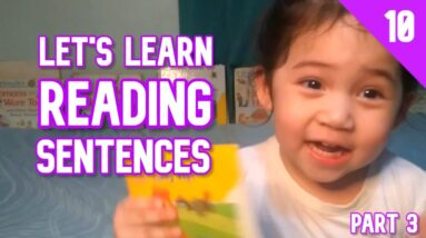 2 Year Old Kid Reading Sentences Part 3 | | How to Teach a Child to Read English Words