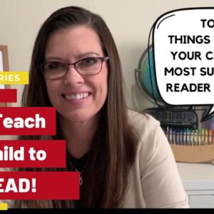 Video #1 EASILY Teach Your Child to READ: Learning How to Read Series  | Home and School Navigator