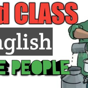 2nd class English in telugu/nice people/easy English for kids/