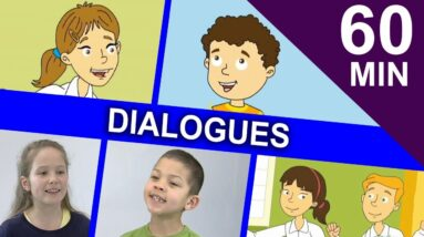 SIMPLE KIDS DIALOGUES | One hour Collection of Easy English Stories