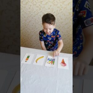 Easy English for children with cards
