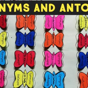 English TLM for Synonyms and antonyms | Easy english project to teach children |
